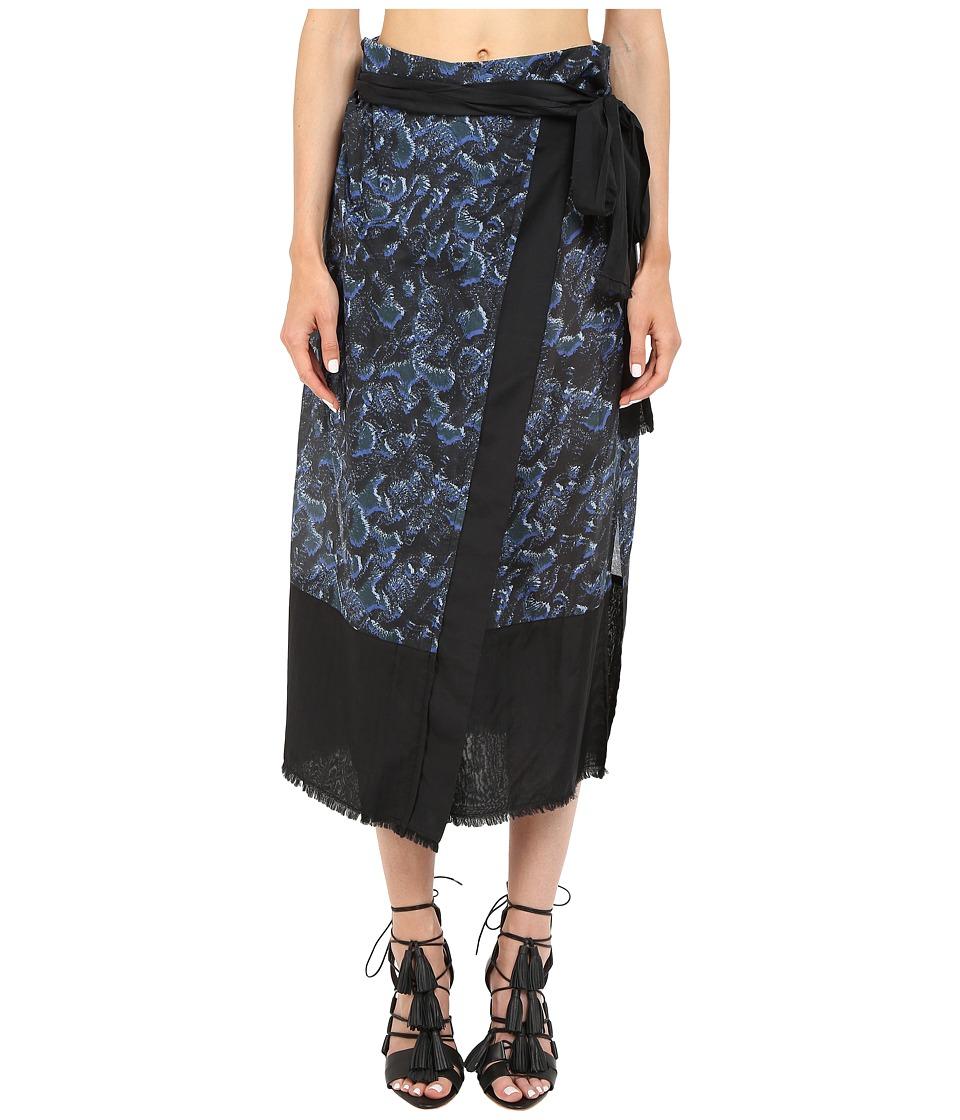 Proenza Schouler Wrap Skirt Pareo (Cobalt) Women