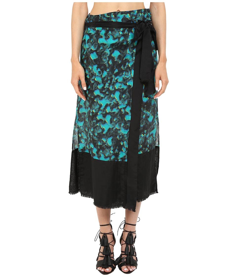 Proenza Schouler Wrap Skirt Pareo (Turquoise) Women