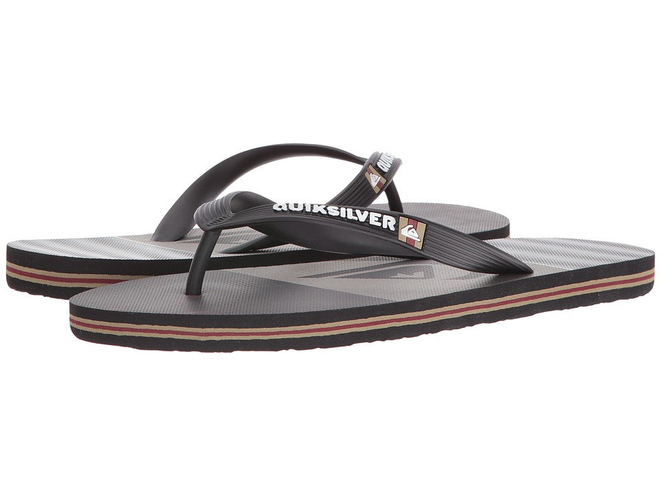 Quiksilver - Molokai Tijuana (Black/Red/Red) Men's Sandals