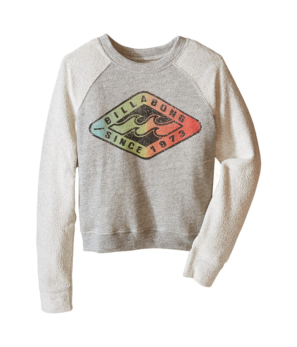 Billabong Kids - Pokerface Pullover (Little Kids/Big Kids) (Dark Athletic Grey) Girl's Long Sleeve Pullover