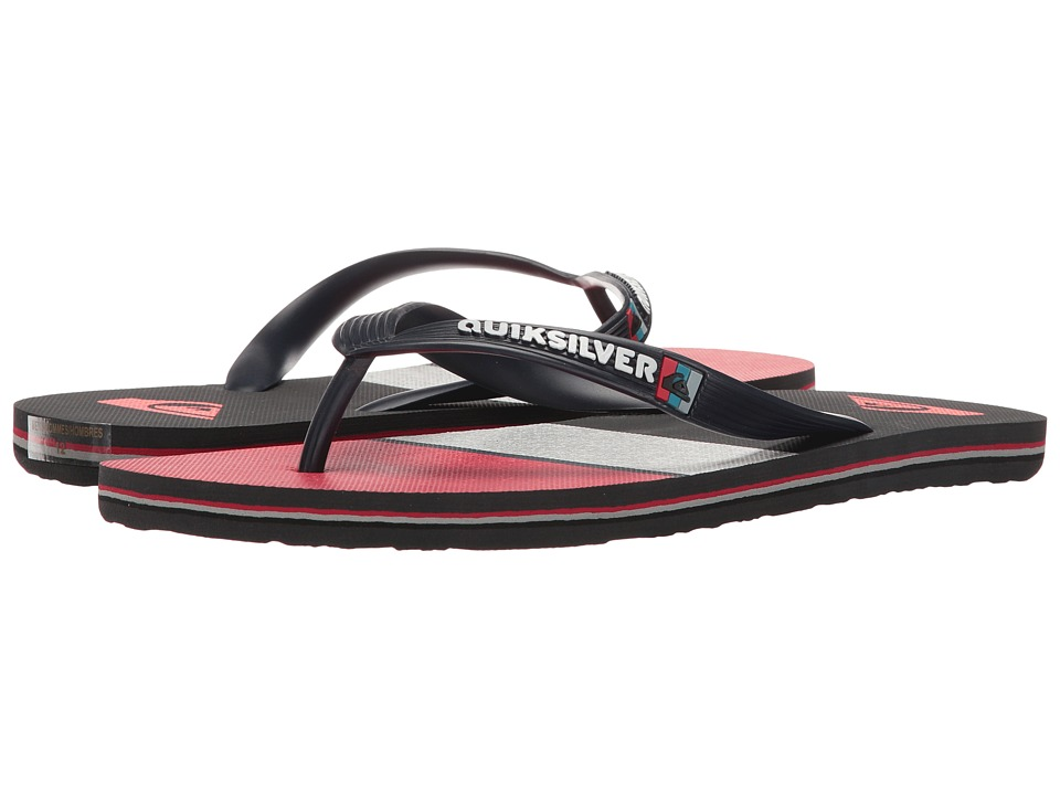 Quiksilver - Molokai Everyday Blocked (Blue/Grey/Red) Men's Sandals