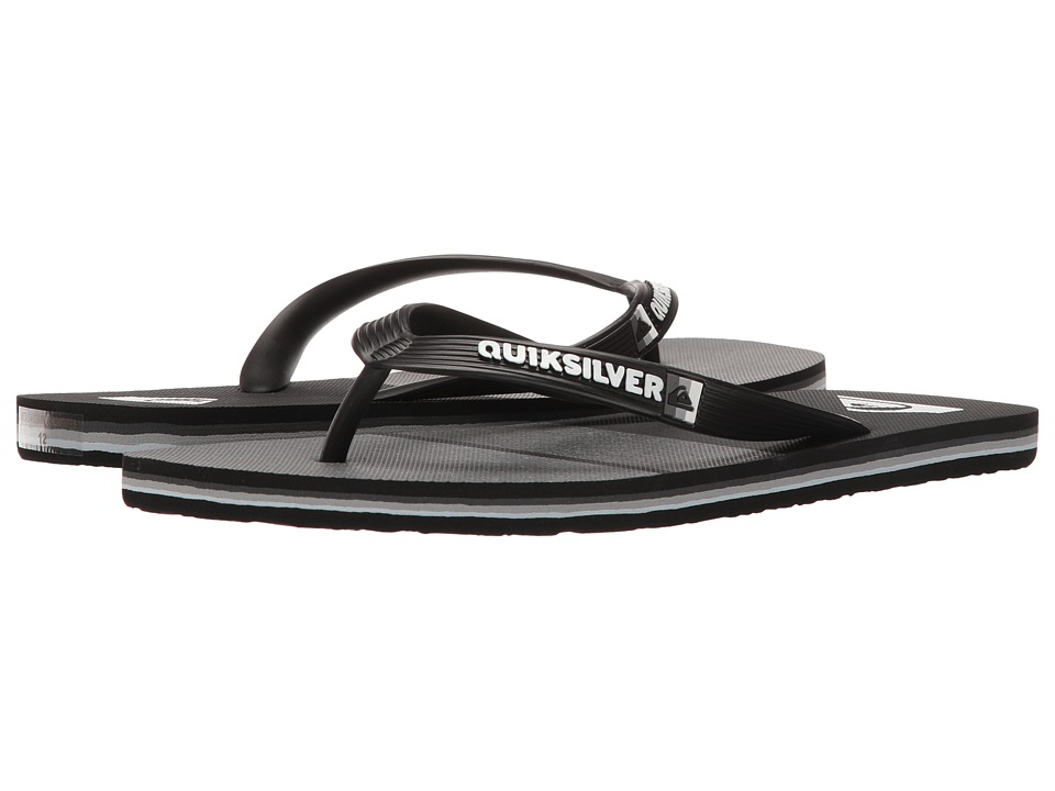 Quiksilver - Molokai Everyday Blocked (Black/Grey/Black) Men's Sandals