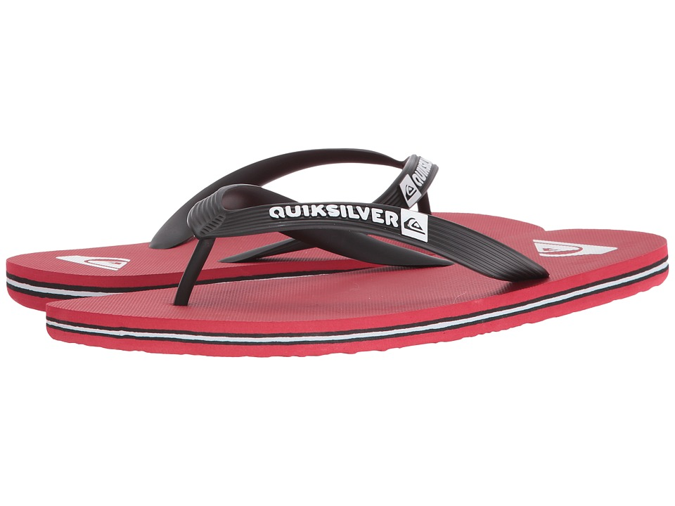Quiksilver - Molokai (Black/Red/Red) Men's Sandals
