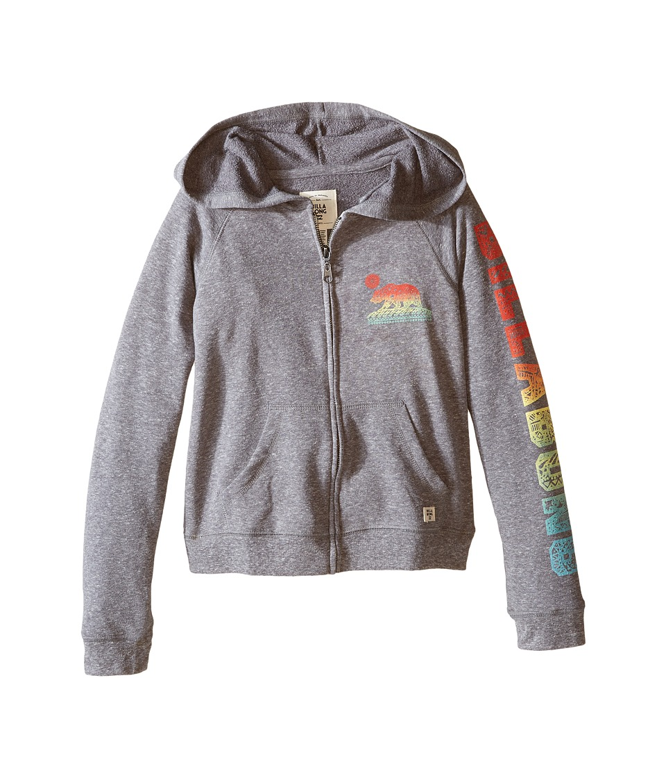 Billabong Kids - Jump Around Zip-Up Hoodie (Little Kids/Big Kids) (Dark Athletic Grey) Girl's Sweater