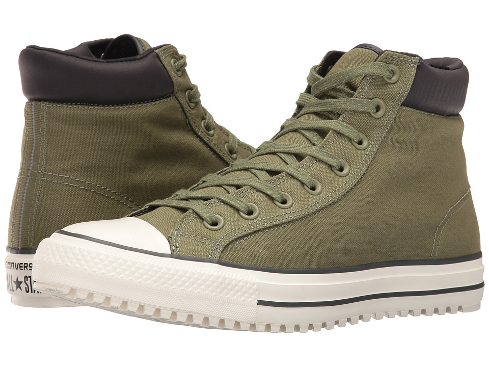 Converse - Chuck Taylor All Star Boot PC Shield Canvas Hi (Fatigue Green/Almost Black/Egret) Men's Lace-up Boots