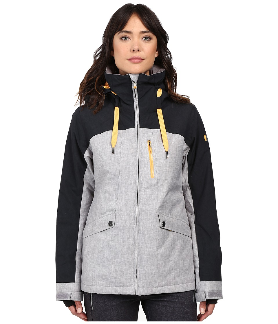 Roxy - Wildlife Jacket (Mid Heather Grey) Women's Jacket