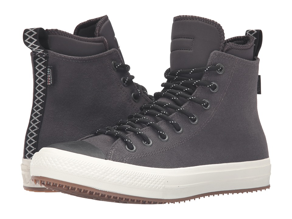 Converse - Chuck Taylor All Star II Shield Canvas Sneaker Boot Hi (Almost Black/Black/Egret) Men's Shoes