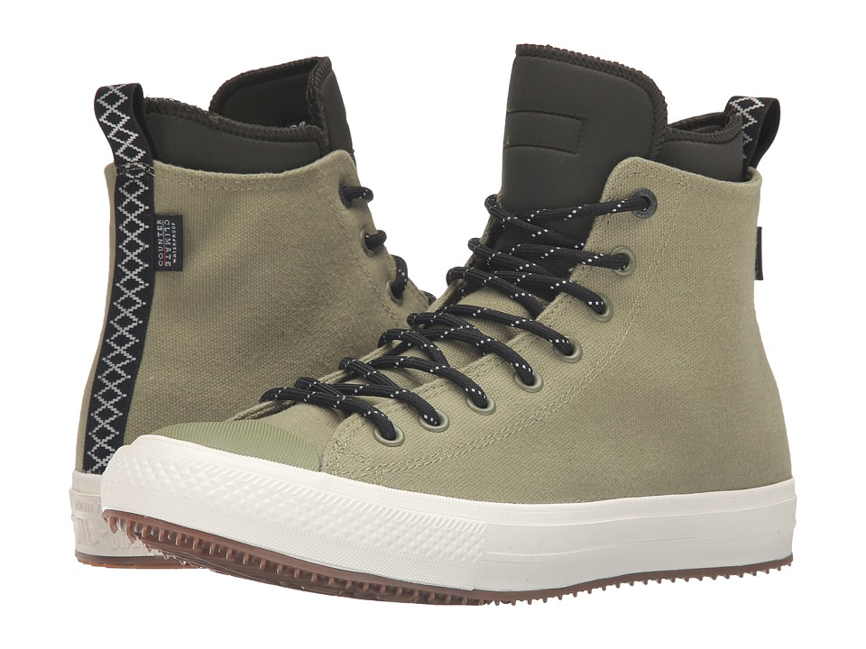 Converse Chuck Taylor All Star II Shield Canvas Sneaker Boot Hi (Fatigue Green/Green Onyx/Egret) Men