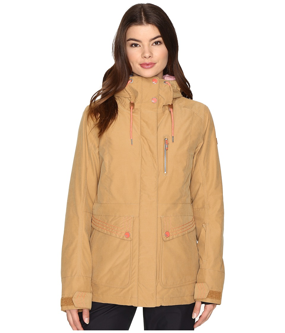 Roxy - Torah Bright Andie Jacket (Bone Brown) Women's Coat