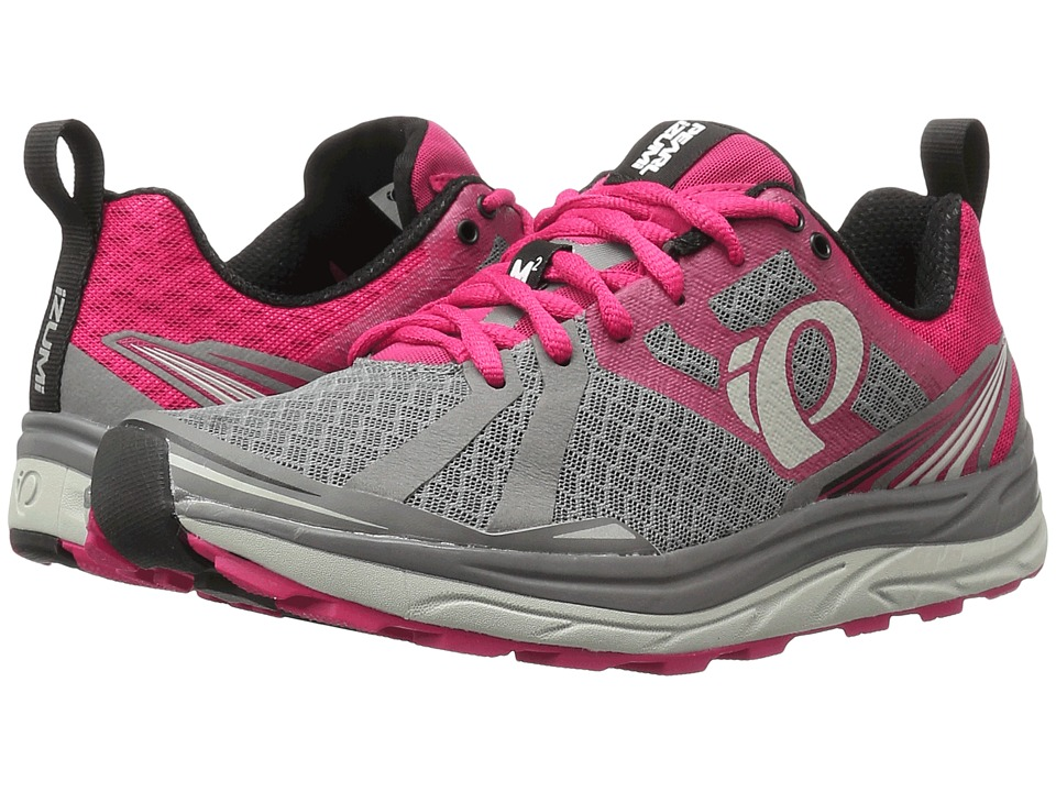Pearl Izumi - EM Trail M 2 v3 (Smoked Pearl/Bright Rose) Women's Running Shoes