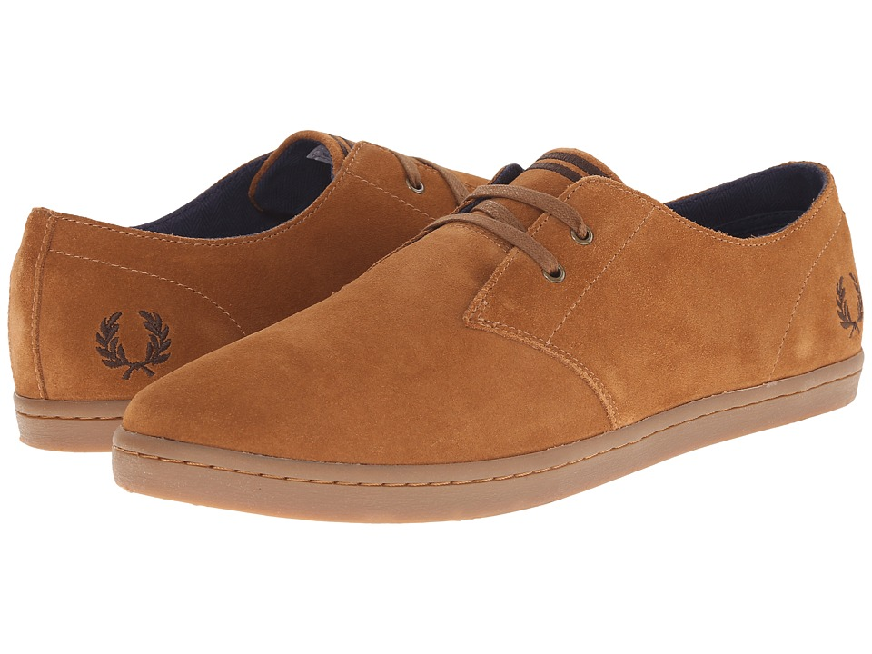 Fred Perry - Byron Low Suede (Ginger/Dark Chocolate) Men's Shoes