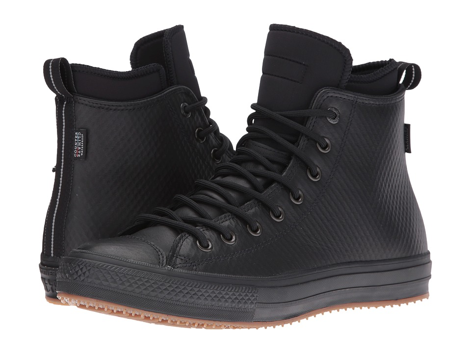 Converse - Chuck Taylor All Star II Mesh Backed Leather Boot (Black/Black/Black) Men's Shoes