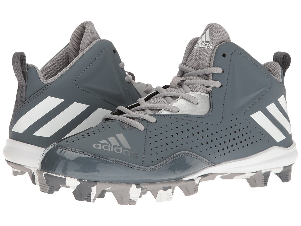 adidas - Wheelhouse 4 Mid (Onix/White/Metallic Silver) Men's Cleated Shoes