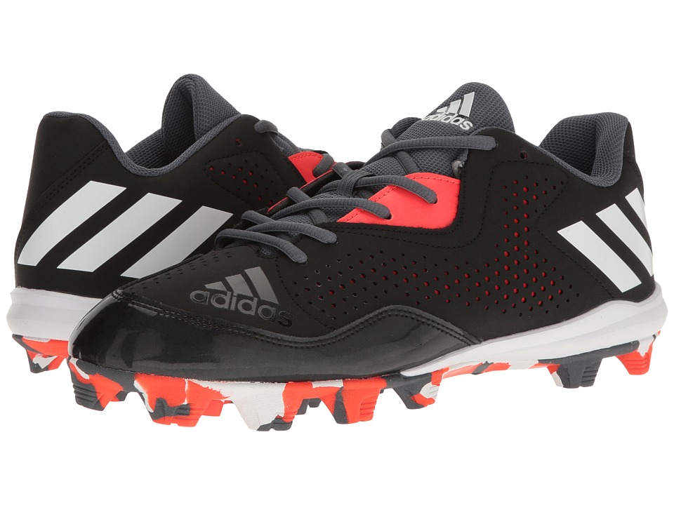 adidas - Wheelhouse 4 (Black/White/Solar Red) Men's Cleated Shoes