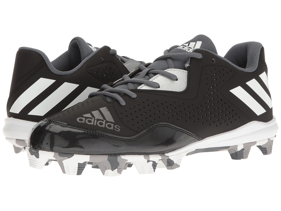 adidas - Wheelhouse 4 (Black/White/Silver Metallic) Men's Cleated Shoes