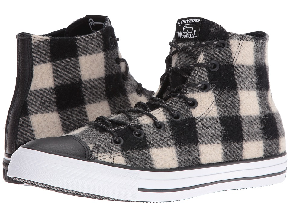 Converse Chuck Taylor(r) All Star(r) Woolrich Street Hiker Hi (White/Black/White) Men