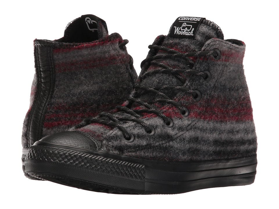 Converse Chuck Taylor All Star Woolrich Street Hiker Hi Dolphin-Black-Thunder Mens Shoes