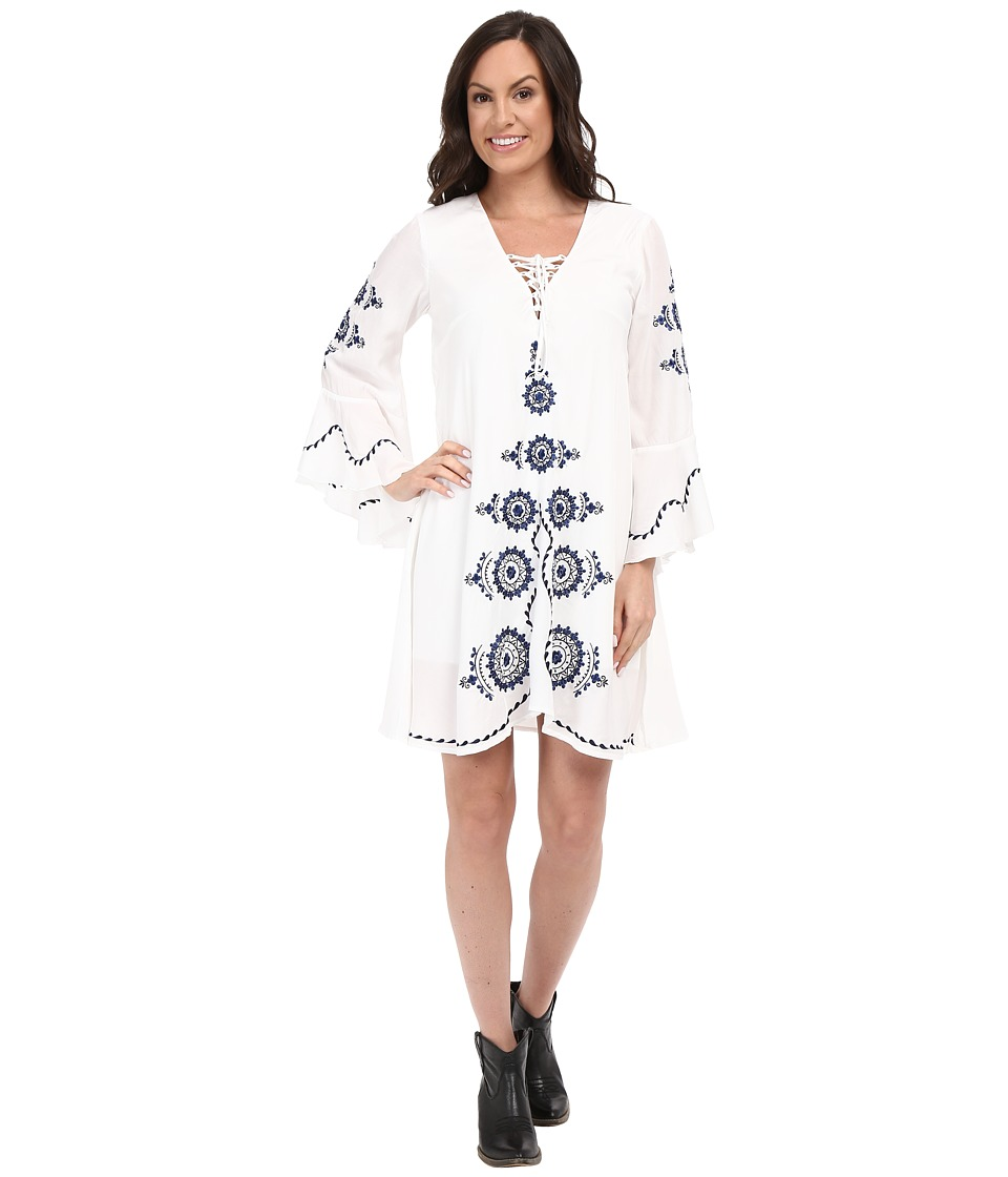 Union of Angels - Chrissie Dress (White/Navy) Women's Dress