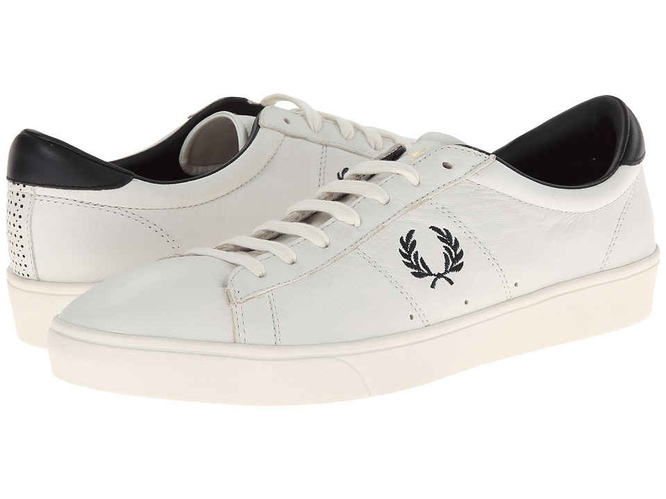 Fred Perry - Spencer Leather (Porcelain/Navy 1) Men's Shoes