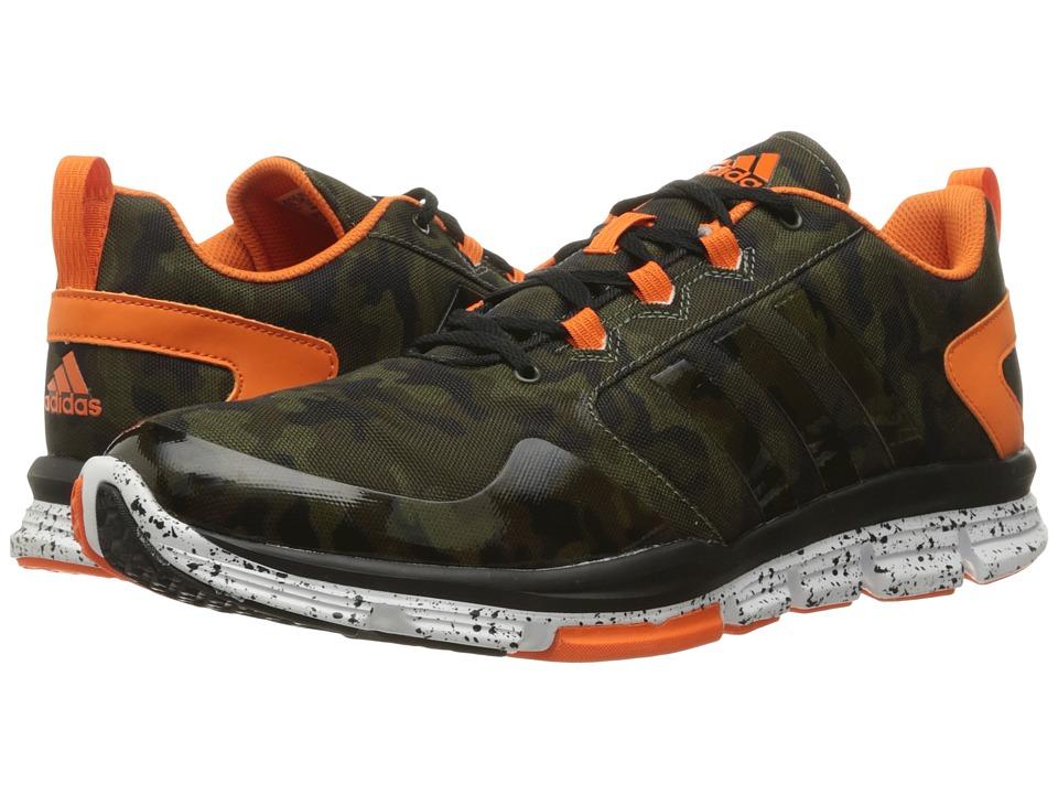 adidas - Speed Trainer 2 Camo (Base Green Camo Print/Black/Orange) Men's Cross Training Shoes
