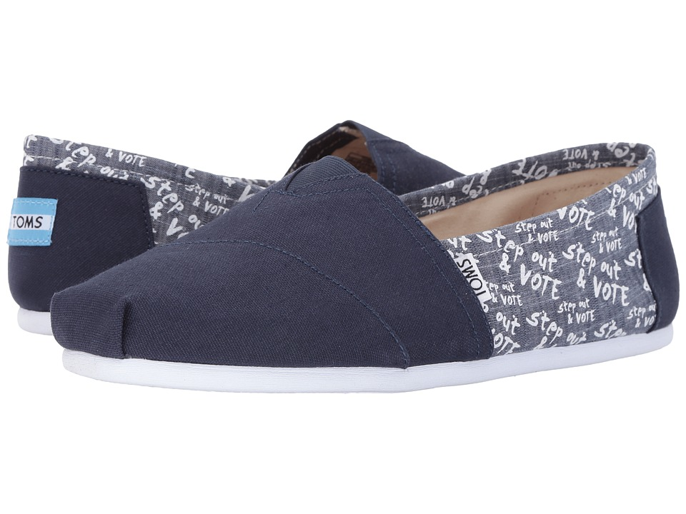 TOMS - Classic Vote (Navy) Men's Slip on Shoes