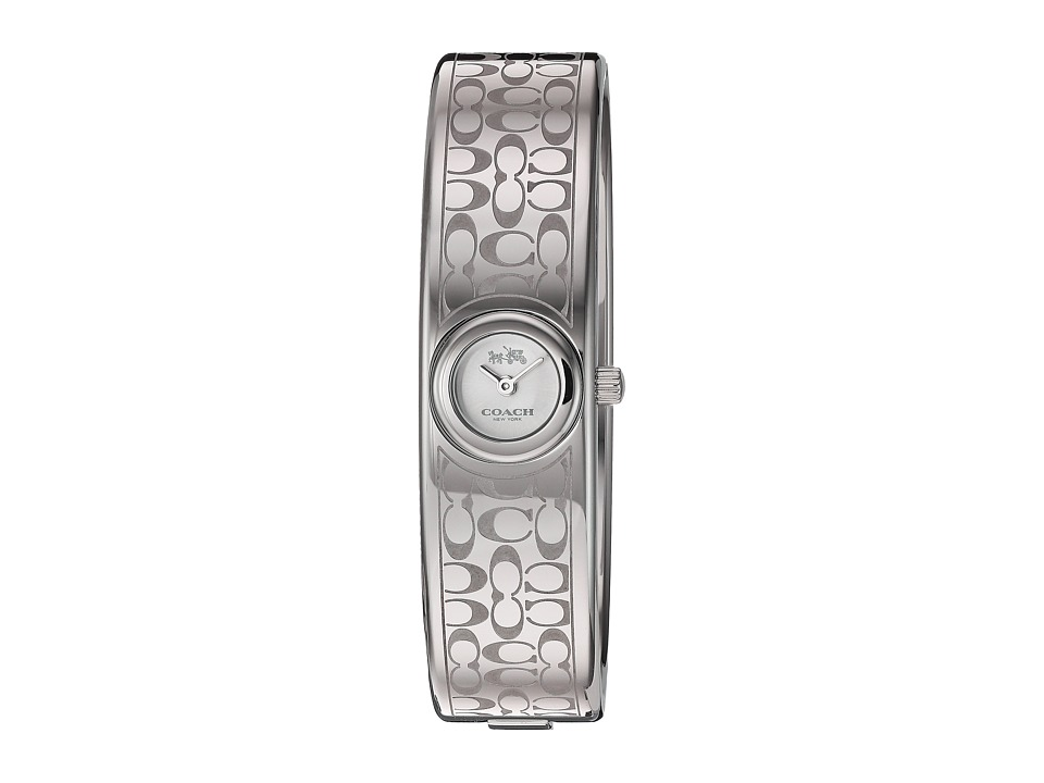 COACH - Scout 16mm Iconic Mini Bangle Etched Signature C (Stainless Steel) Watches