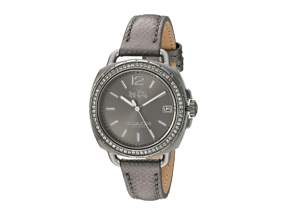 COACH - Tatum 34mm Leather (Grey) Watches