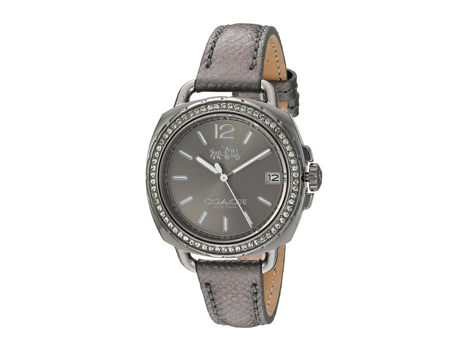 COACH - Tatum 34mm Leather (Grey) Watches