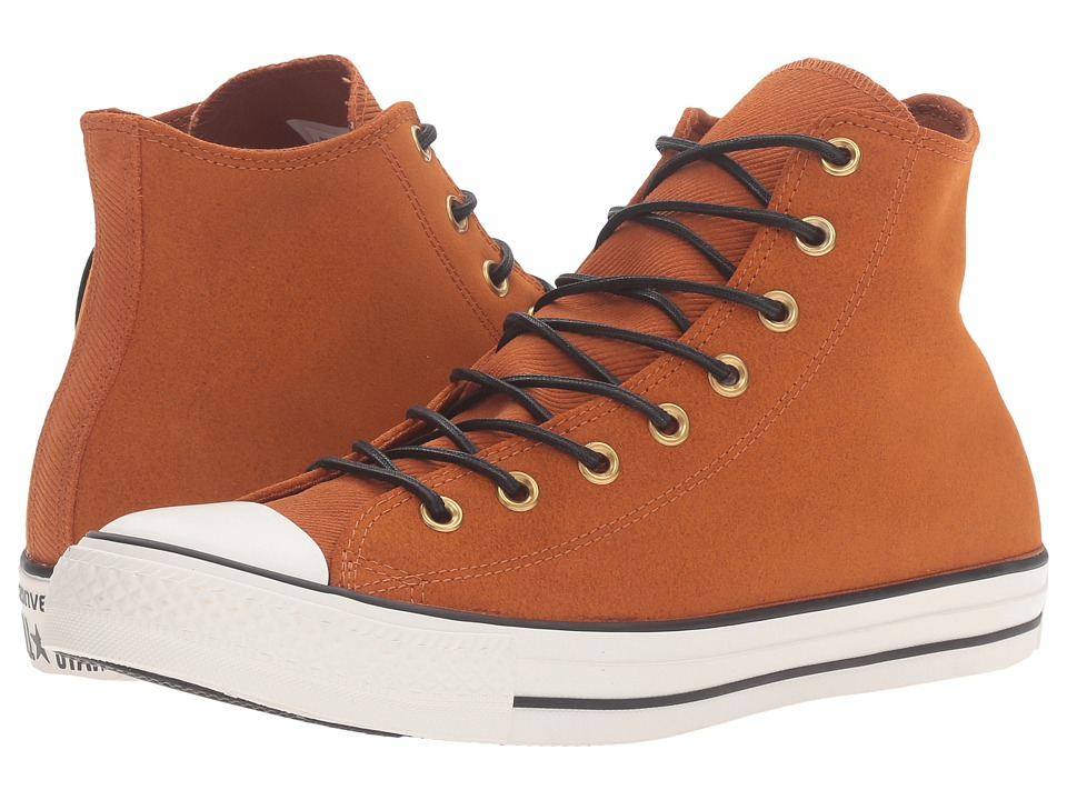 Converse - Chuck Taylor All Star Leather/Corduroy Hi (Antique Sepia/Egret/Black) Athletic Shoes