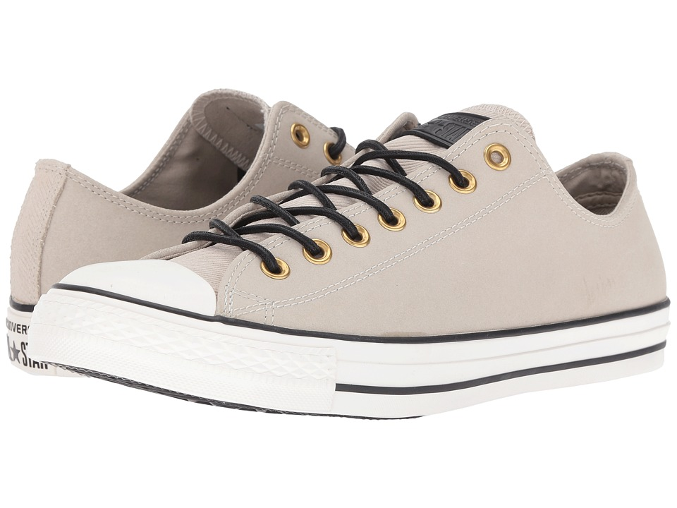Converse Chuck Taylor All Star Leather/Corduroy Lo (Frayed Burlap/Egret/Black) Athletic Shoes