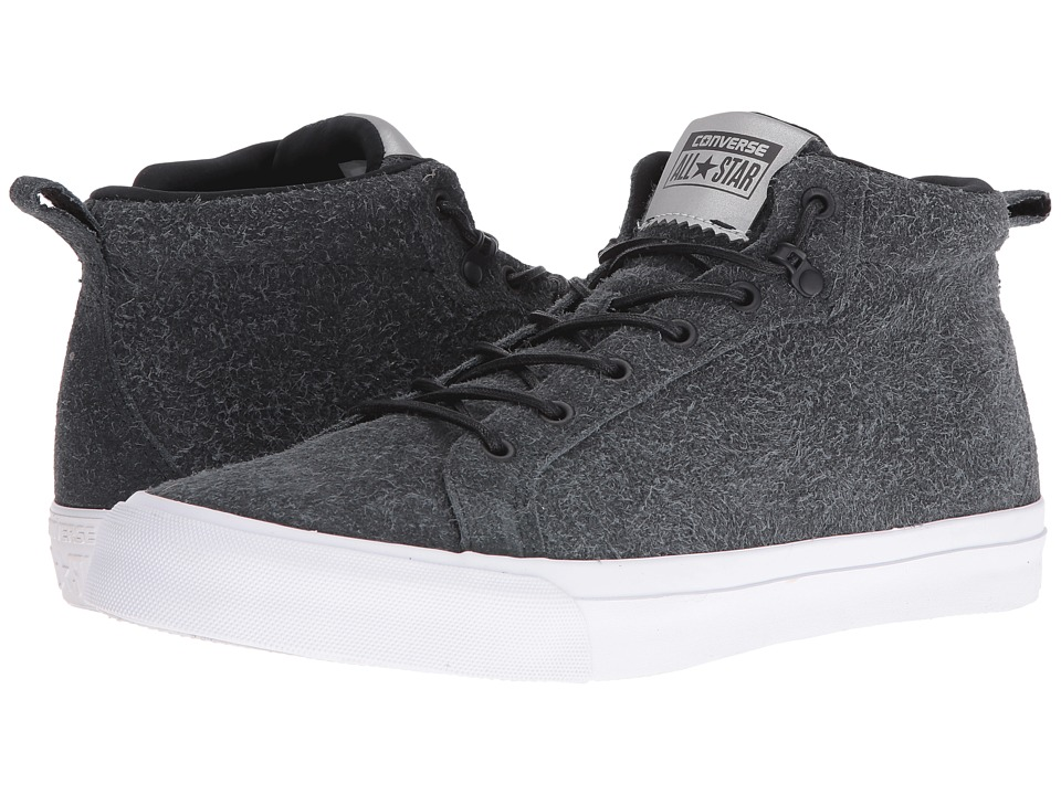 Converse - All Star Wooly Suede Fulton Mid (Black/Black/White) Men's Shoes