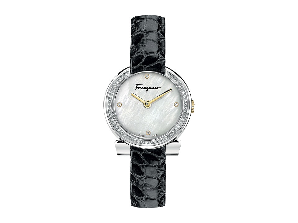 Salvatore Ferragamo - Gancino Evening FAP03 0016 (Stainless Steel/Black) Watches
