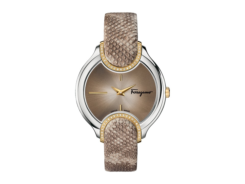 Salvatore Ferragamo - Signature FIZ06 0015 (Two-Tone/Stainless Steel/Yellow Gold/Beige) Watches