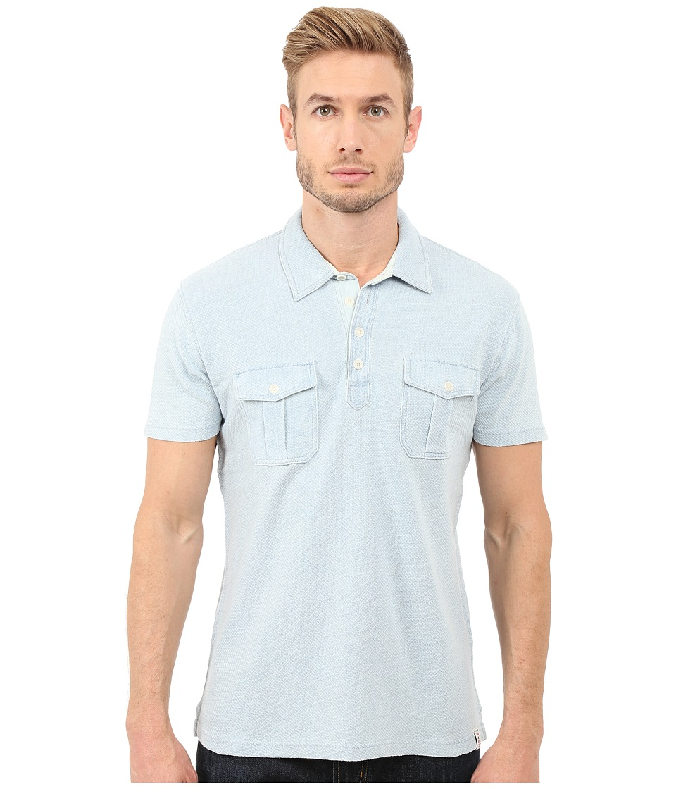 Lucky Brand - Polo Shirt (Light Indigo) Men's Short Sleeve Knit
