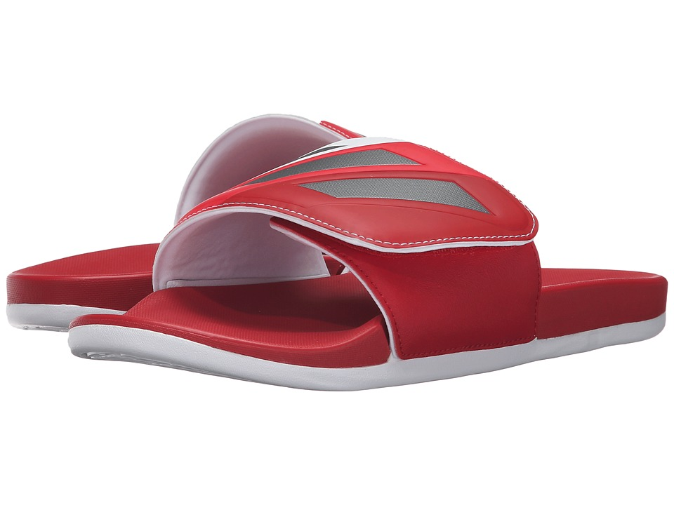 adidas Adilette CF Ultra Adjustable Slide (Scarlet/Iron Metallic/White) Men