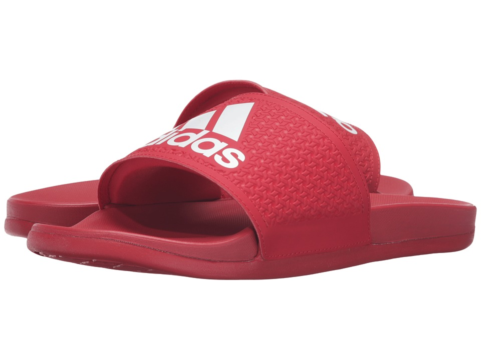 adidas - Adilette Supercloud Plus (Scarlet/White) Men's Sandals