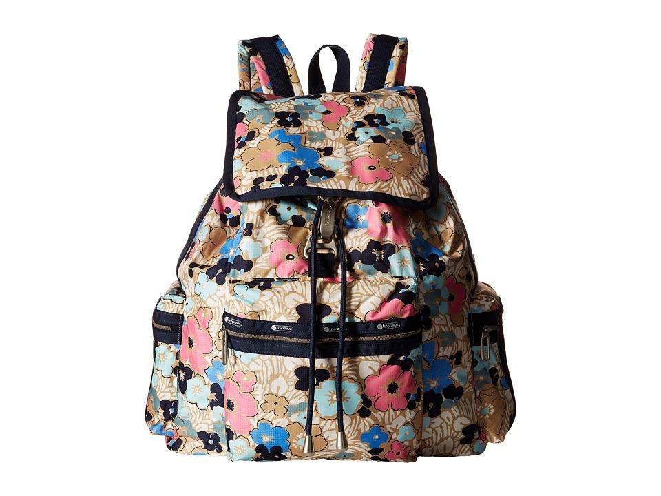 LeSportsac - 3-Zip Voyager (Ocean Blooms) Handbags