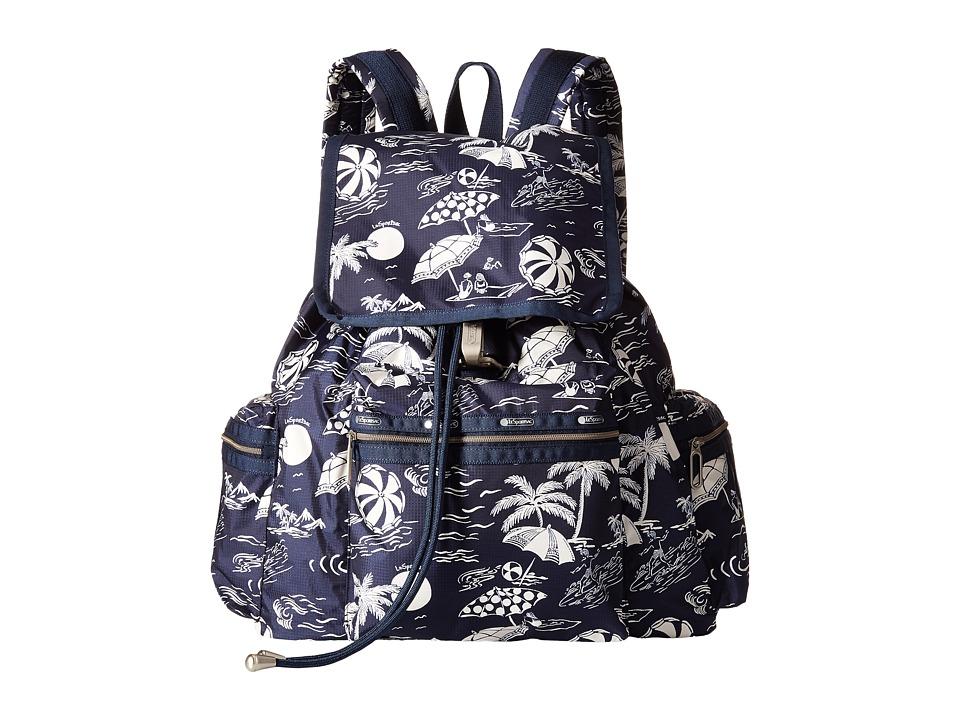 LeSportsac - 3-Zip Voyager (Hawaiian Getaway) Handbags