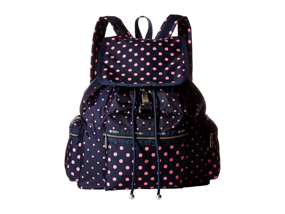 LeSportsac - 3-Zip Voyager (Sun Multi Pink) Handbags