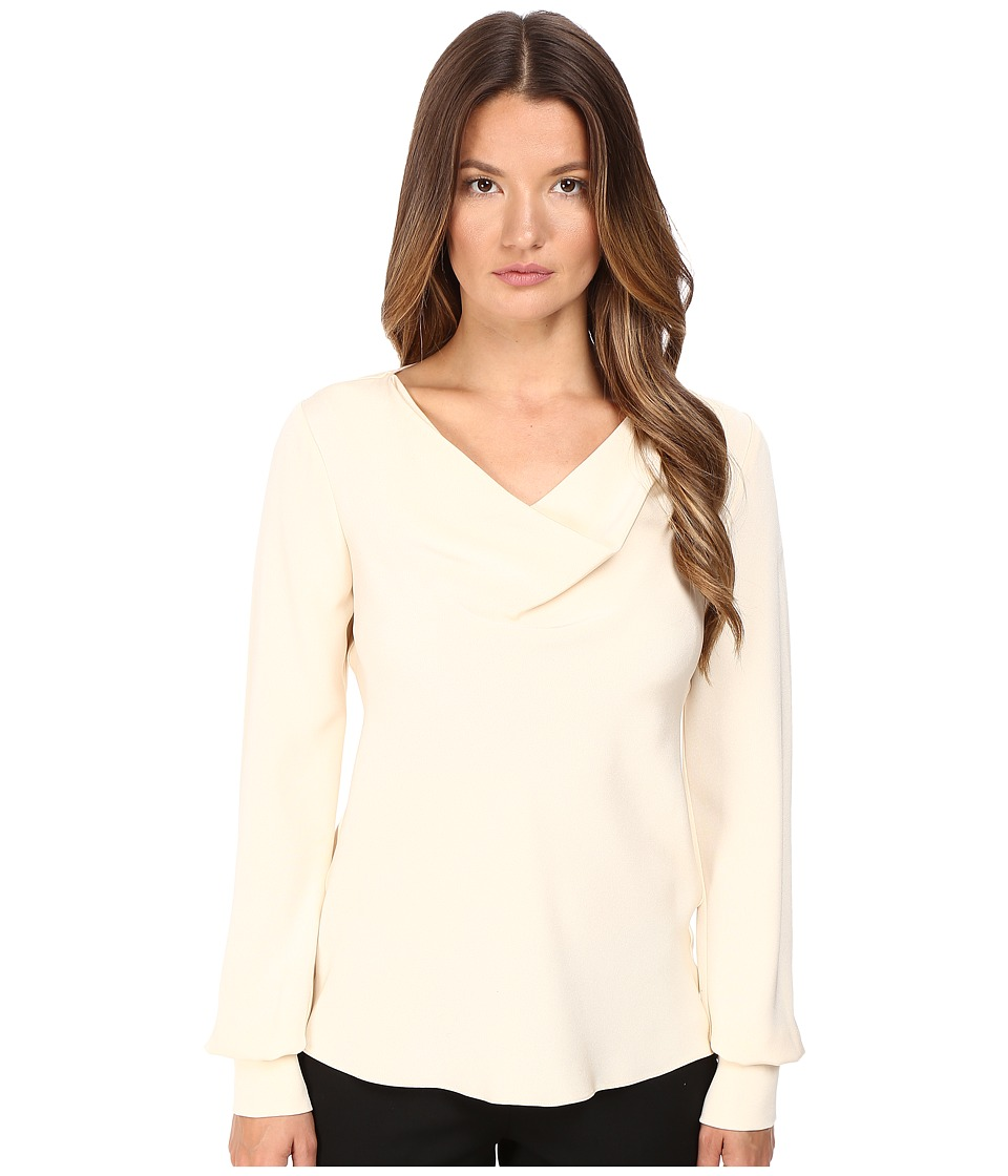 Prabal Gurung - Long Sleeve Cowl Neck Blouse (Ivory) Women's Blouse