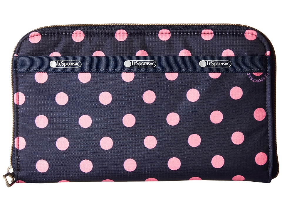 LeSportsac - Everyday Wallet (Sunshine Dot Pink) Wallet Handbags