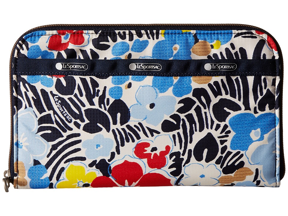 LeSportsac - Everyday Wallet (Ocean Blooms Navy) Wallet Handbags