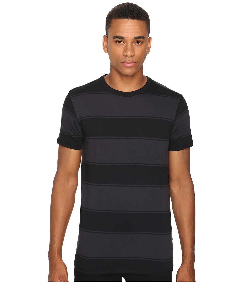 Tavik - Newport Short Sleeve Knit (Black/Grey) Men's Clothing