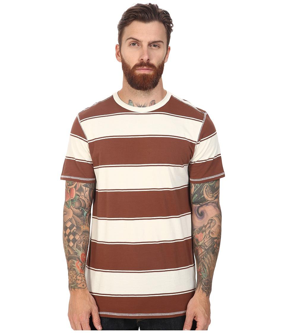 Tavik - Newport Short Sleeve Knit (Bone/Brown) Men's Clothing