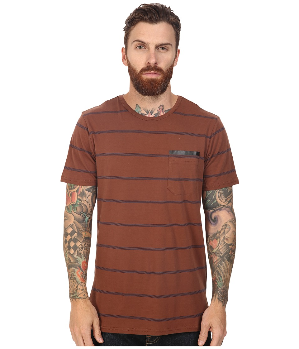 Tavik - Tracer Short Sleeve Knit (Brown) Men's Short Sleeve Knit