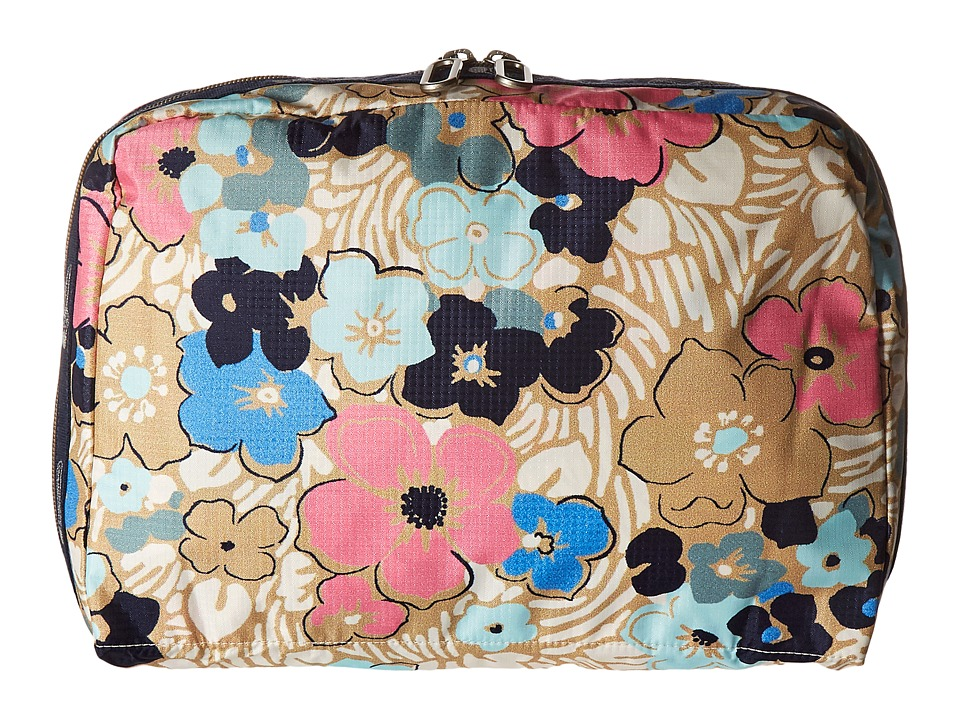 LeSportsac Luggage - XL Essential Cosmetic (Ocean Blooms) Cosmetic Case
