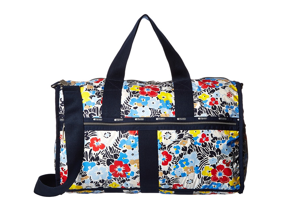 LeSportsac Luggage - CR Large Weekender (Ocean Blooms Navy) Weekender/Overnight Luggage