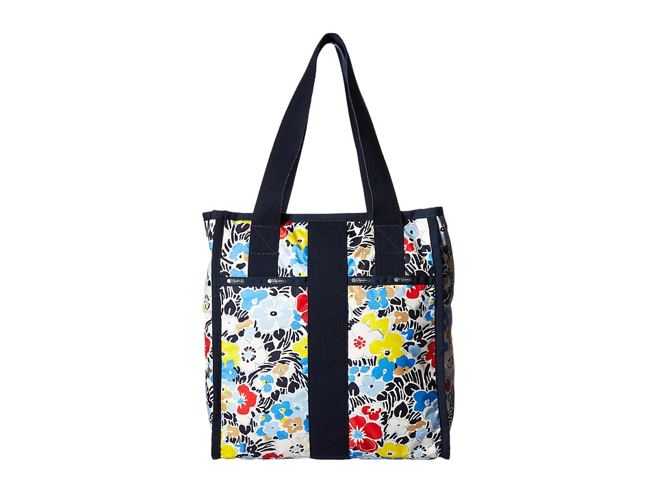 LeSportsac Luggage - City Tote (Ocean Blooms Navy) Tote Handbags
