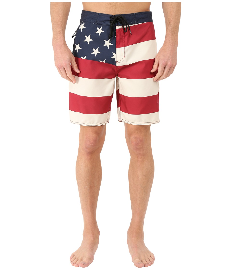 Tavik - Flag Boardshorts (Red) Men's Swimwear