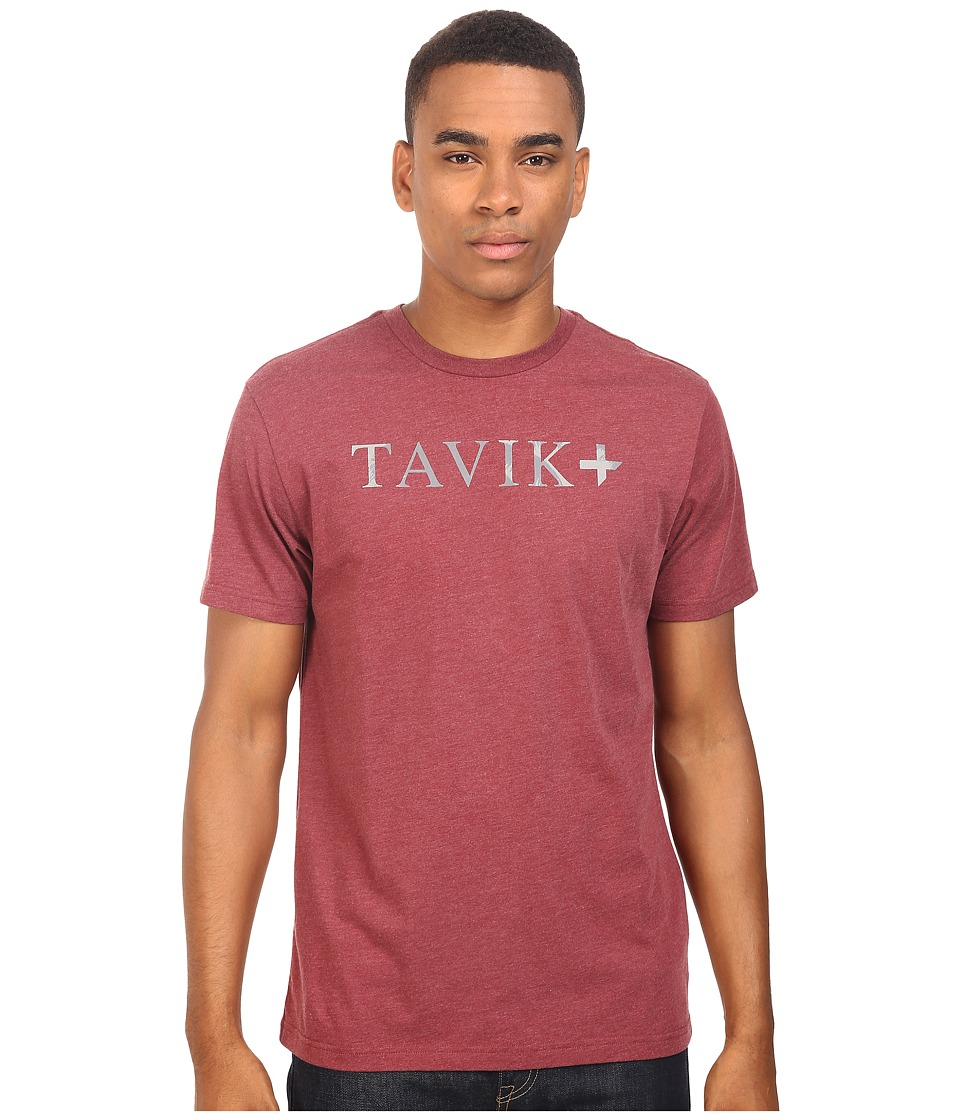 Tavik - Essential Short Sleeve T-Shirt (Heather Oxblood) Men's T Shirt
